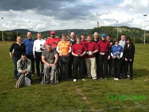 Group photograph of participants of Bannockburn Open FITA and Metric shoot