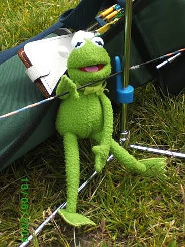 Even Kermit the Frog was worn out by the all day shoot