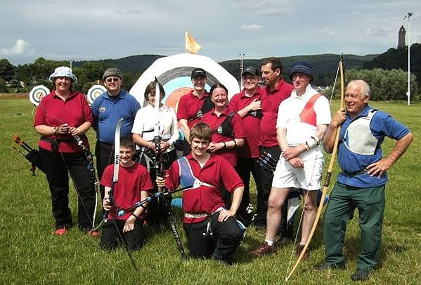 Group photograph of participants of Bannockburn Open St George and Albion shoot