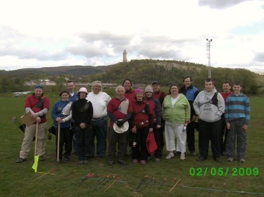 Group photograph of participants of Bannockburn Open Clout
