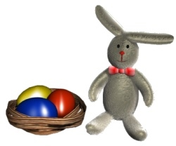 Easter Bunny & Easter Basket PSD image by micksarmy98 Creative Commons Attribution 3.0